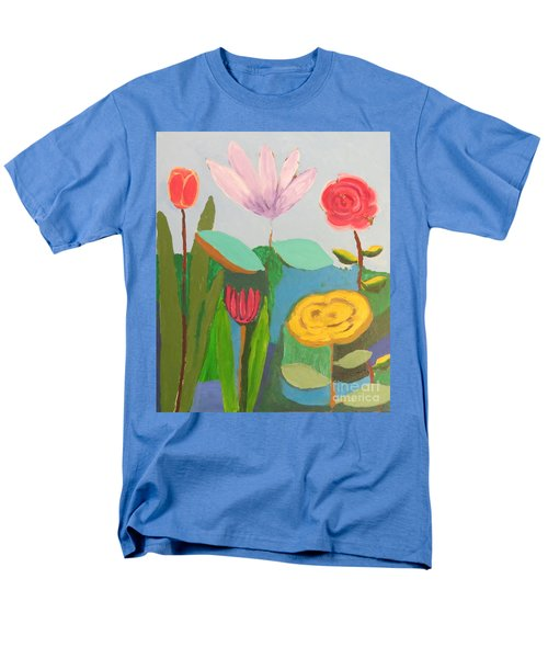 Men's T-Shirt  (Regular Fit) featuring the painting Imagined Flowers One by Rod Ismay