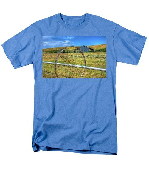 Irrigation Water Wheel Hdr Men's T-Shirt  (Regular Fit) by James Hammond