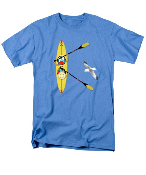 K Is For Kayak And Kittiwake Men's T-Shirt  (Regular Fit) by Valerie Drake Lesiak