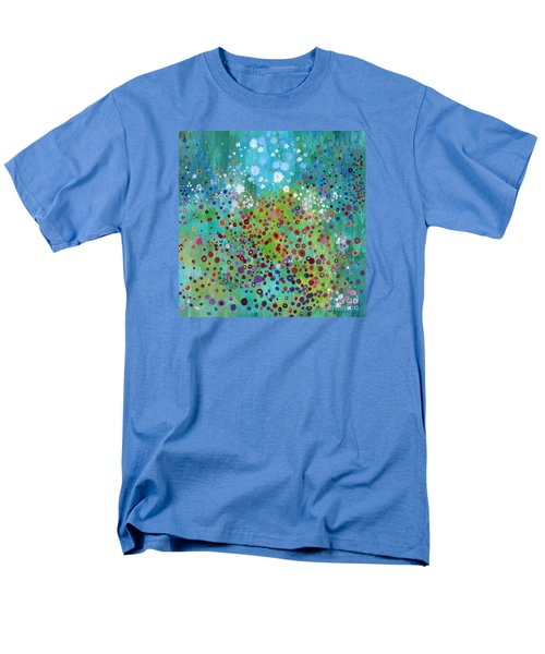 Men's T-Shirt  (Regular Fit) featuring the painting Klimt's Garden by Stacey Zimmerman