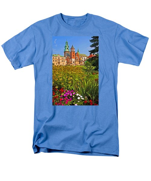 Men's T-Shirt  (Regular Fit) featuring the photograph Krakow Castle by Dennis Cox WorldViews