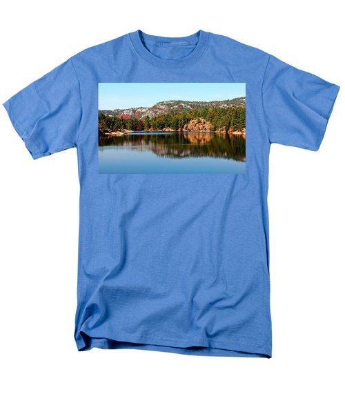 Men's T-Shirt  (Regular Fit) featuring the photograph La Cloche Mountain Range by Debbie Oppermann