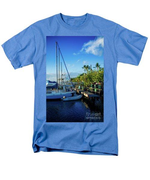 Men's T-Shirt  (Regular Fit) featuring the photograph Lahaina Marina Blue Twilight by Sharon Mau