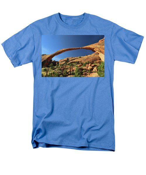 Men's T-Shirt  (Regular Fit) featuring the photograph Landscape Arch by Dana Sohr
