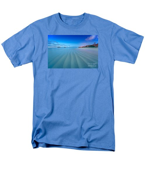 Lanikai Beach Ripples In The Sand Wide Men's T-Shirt  (Regular Fit) by Aloha Art