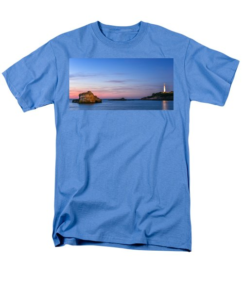 Men's T-Shirt  (Regular Fit) featuring the photograph Le Phare De Biarritz by Thierry Bouriat