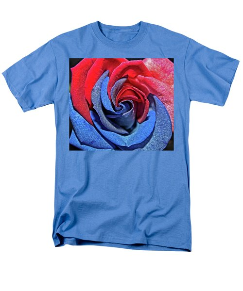 Men's T-Shirt  (Regular Fit) featuring the photograph Liberty Rose by Judy Vincent