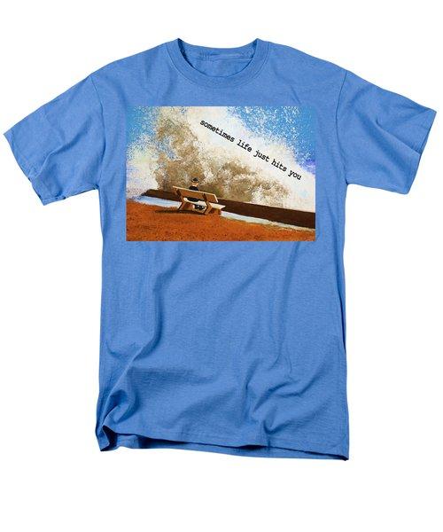 Life Hits You Greeting Card Men's T-Shirt  (Regular Fit)