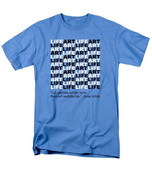 Life Imitates Art Men's T-Shirt  (Regular Fit) by Mal Bray