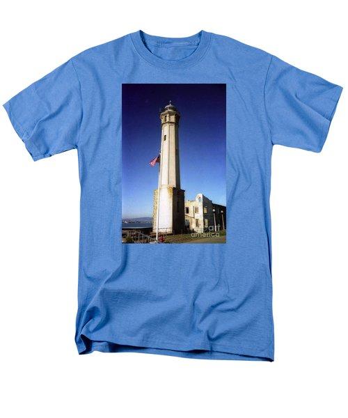 light house Alcatraz SF bay area Men's T-Shirt  (Regular Fit) by Ted Pollard