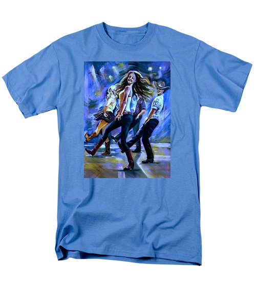 Line Dancing Fun Men's T-Shirt  (Regular Fit) by Anna Duyunova