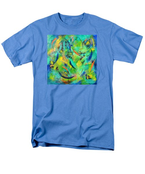 Men's T-Shirt  (Regular Fit) featuring the painting Little Fishes by Lyn Olsen