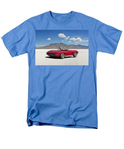 Men's T-Shirt  (Regular Fit) featuring the digital art Little Red Corvette by Peter Chilelli