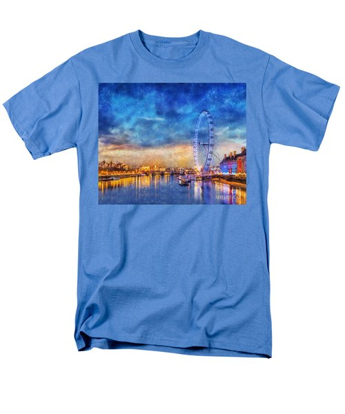 London Eye Men's T-Shirt  (Regular Fit) by Ian Mitchell