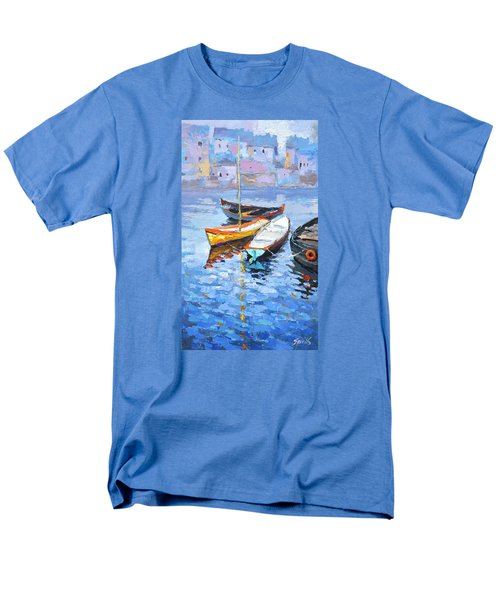 Men's T-Shirt  (Regular Fit) featuring the painting Lonely Boats  by Dmitry Spiros