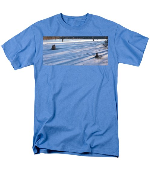 Long Blue Shadows Of Early Morning Men's T-Shirt  (Regular Fit) by Angelo Marcialis