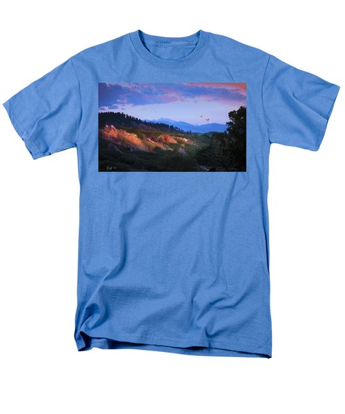 Longs Peak And Glowing Rocks Men's T-Shirt  (Regular Fit) by J Griff Griffin