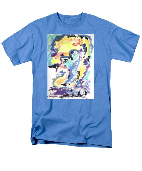 Men's T-Shirt  (Regular Fit) featuring the painting Loss Of Consciousness by Esther Newman-Cohen