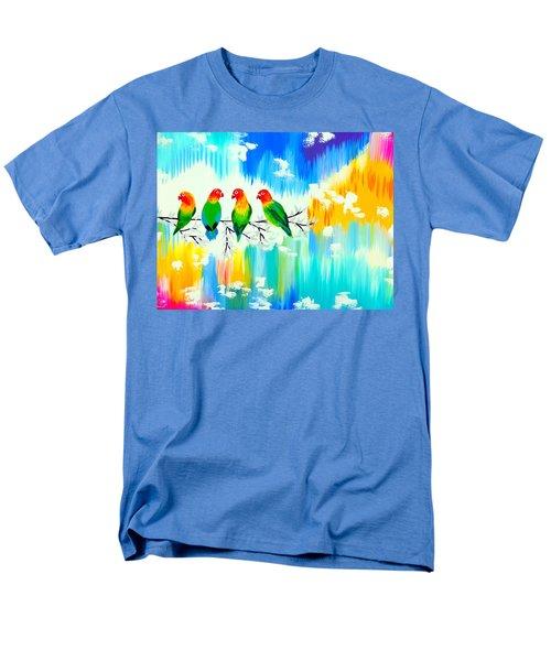 Lovebirds On A Branch Men's T-Shirt  (Regular Fit)