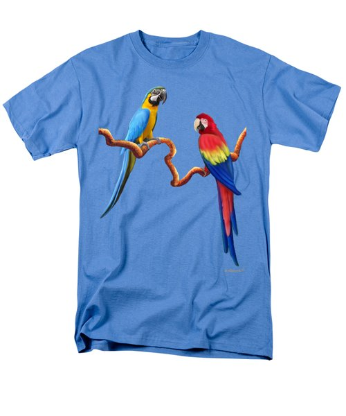 Macaw Tropical Parrots Men's T-Shirt  (Regular Fit) by Glenn Holbrook