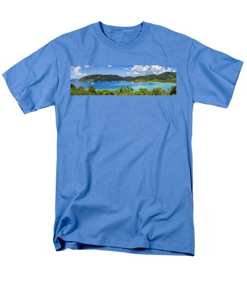 Men's T-Shirt  (Regular Fit) featuring the photograph Maho And Francis Bays On St. John, Usvi by Adam Romanowicz