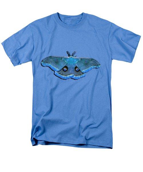 Male Moth Medium Blue .png Men's T-Shirt  (Regular Fit) by Al Powell Photography USA