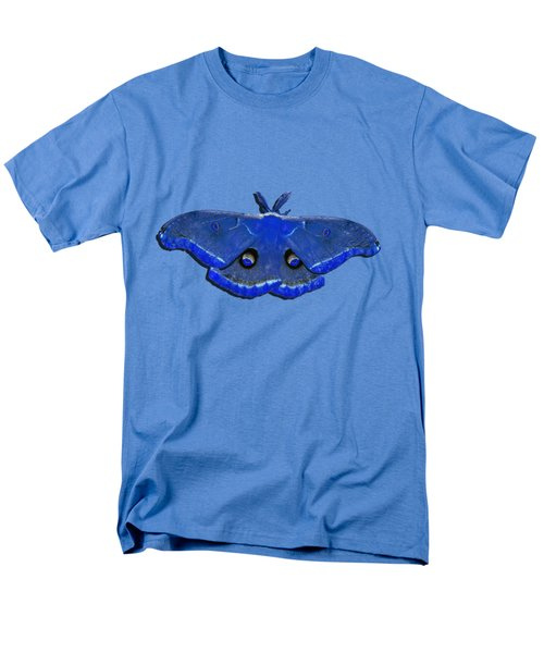 Male Moth Navy Blue .png Men's T-Shirt  (Regular Fit) by Al Powell Photography USA