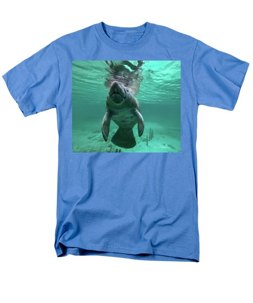 Manatee Breathing Men's T-Shirt  (Regular Fit) by Tim Fitzharris
