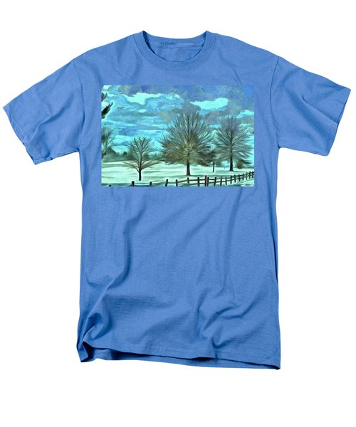 Men's T-Shirt  (Regular Fit) featuring the mixed media Mandisa by Trish Tritz