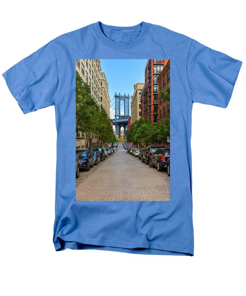 Men's T-Shirt  (Regular Fit) featuring the photograph Manhattan Bridge by Emmanuel Panagiotakis