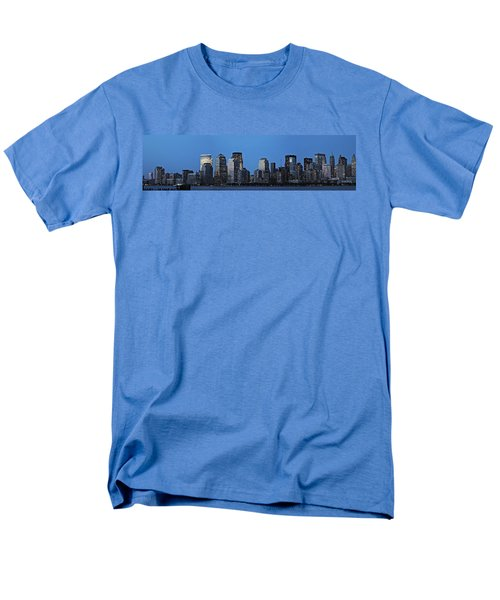 Men's T-Shirt  (Regular Fit) featuring the photograph Manhattan Skyline by John Haldane