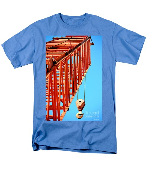 Manitowoc Red Boom Block And Hook Men's T-Shirt  (Regular Fit) by Maria Urso