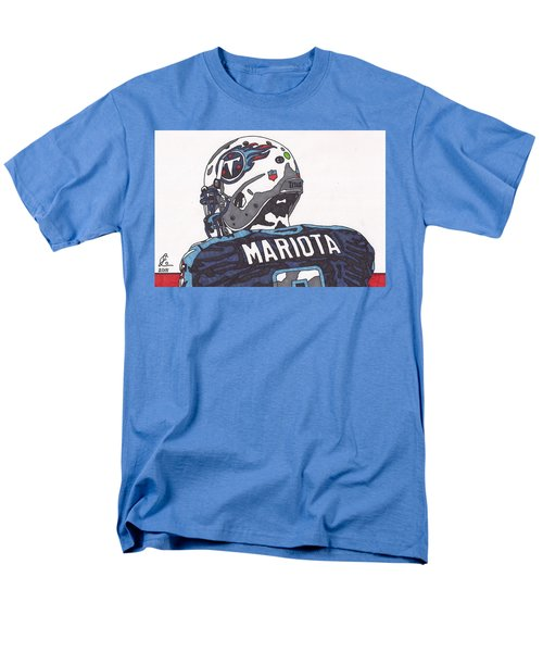 Marcus Mariota Titans 2 Men's T-Shirt  (Regular Fit) by Jeremiah Colley