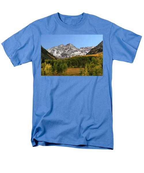 Men's T-Shirt  (Regular Fit) featuring the photograph Maroon Bells by Dana Sohr