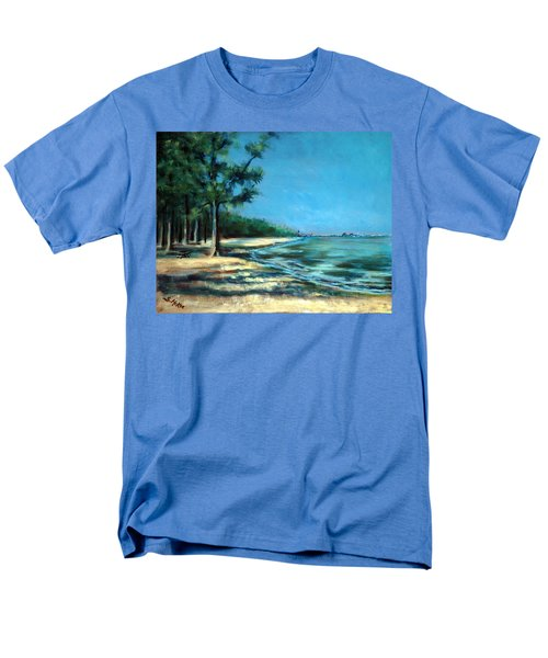 Men's T-Shirt  (Regular Fit) featuring the painting Maybe A Picnic by Suzanne McKee
