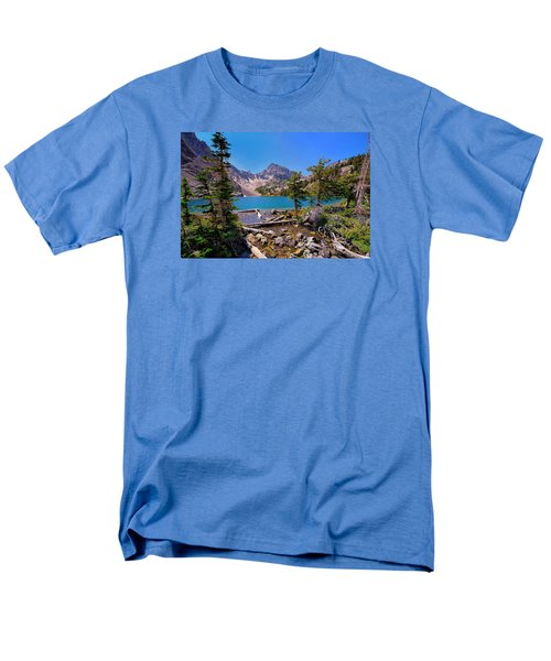 Men's T-Shirt  (Regular Fit) featuring the photograph Merriam Lake by Greg Norrell