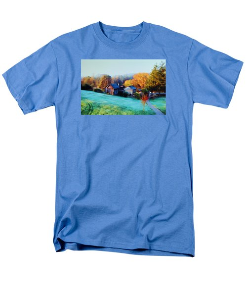 Men's T-Shirt  (Regular Fit) featuring the photograph Misty Autumn Day by Diane Alexander