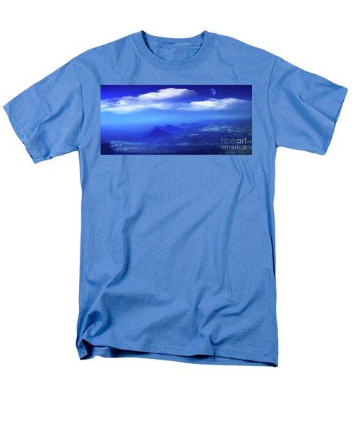 Misty Mountains Of San Salvador Panorama Men's T-Shirt  (Regular Fit) by Al Bourassa