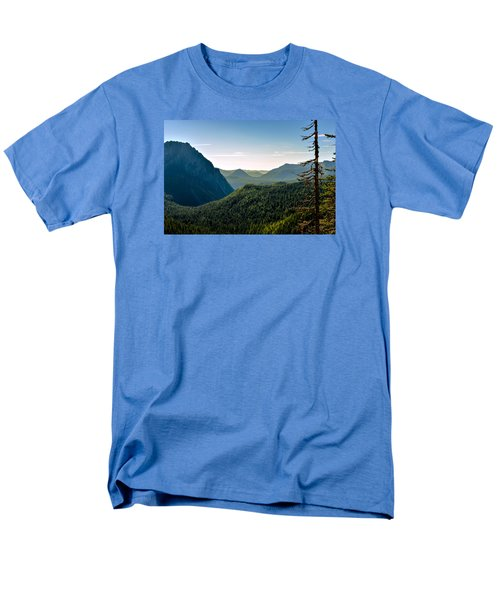 Men's T-Shirt  (Regular Fit) featuring the photograph Misty Mountains by Anthony Baatz