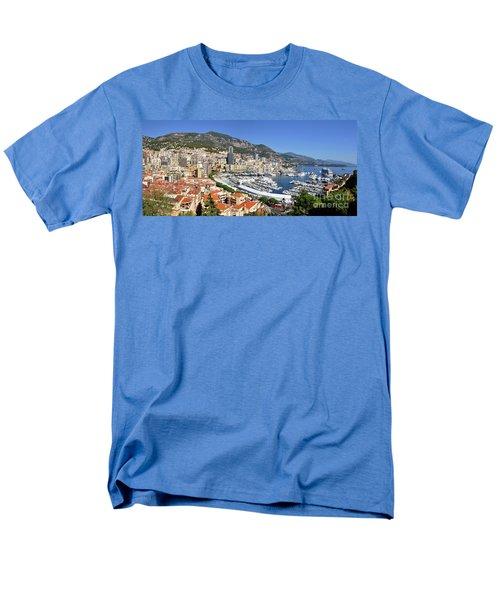 Men's T-Shirt  (Regular Fit) featuring the photograph Monaco Port Hercule Panorama by Yhun Suarez
