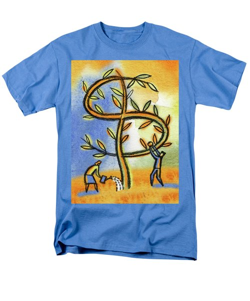 Men's T-Shirt  (Regular Fit) featuring the painting Money Tree by Leon Zernitsky