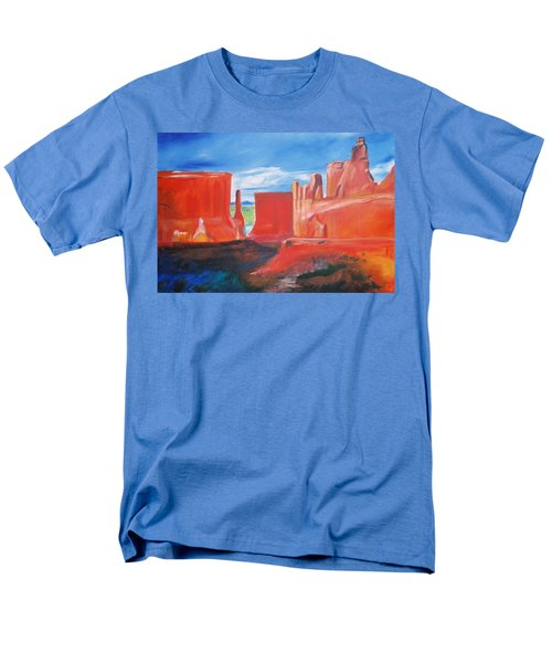 Men's T-Shirt  (Regular Fit) featuring the painting Monument Valley  by Eric  Schiabor