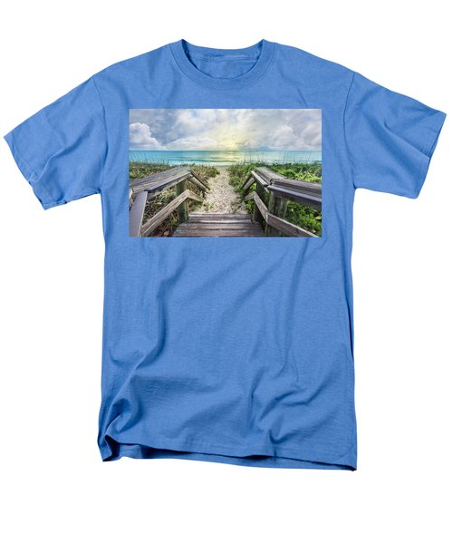 Men's T-Shirt  (Regular Fit) featuring the photograph Morning Blues At The Dune by Debra and Dave Vanderlaan