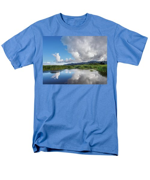 Men's T-Shirt  (Regular Fit) featuring the photograph Morning Reflections On A Marsh Pond by Greg Nyquist