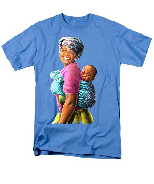 Mother And Child Men's T-Shirt  (Regular Fit) by Anthony Mwangi