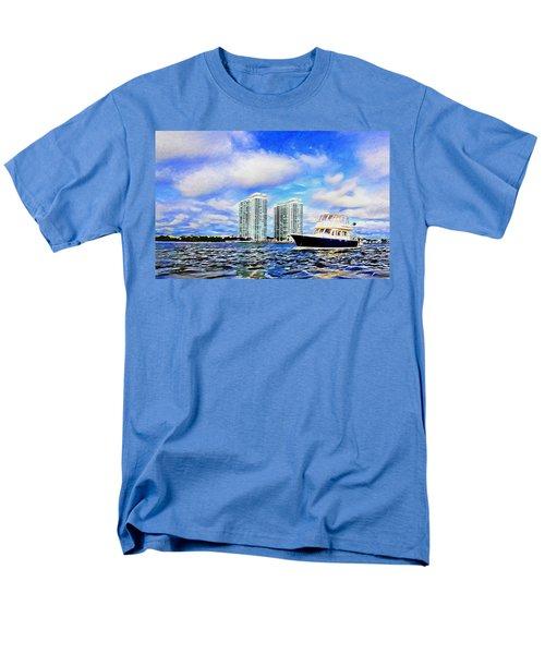 Motoring Past The Marina Grande Men's T-Shirt  (Regular Fit) by Alice Gipson