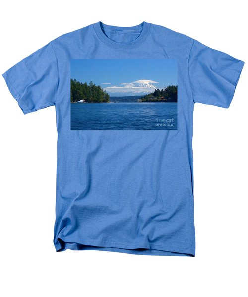 Mount Rainier Lenticular Men's T-Shirt  (Regular Fit) by Sean Griffin