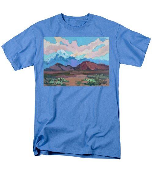Men's T-Shirt  (Regular Fit) featuring the painting Mount San Gorgonio by Diane McClary