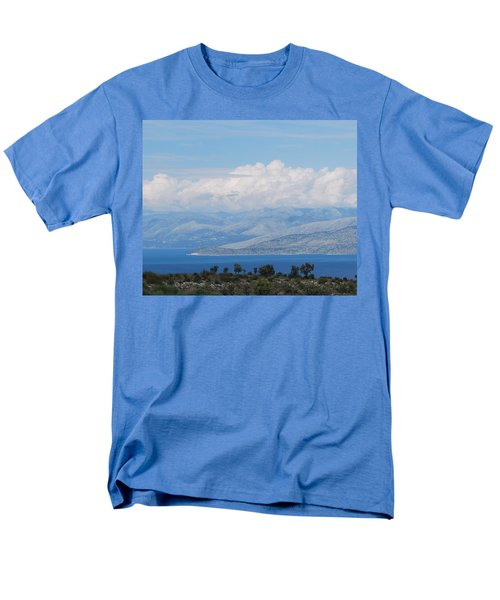 Mountains Far Away  3 Men's T-Shirt  (Regular Fit) by George Katechis