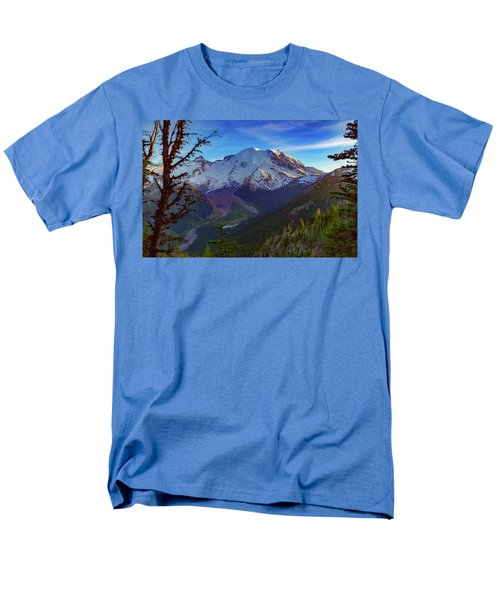 Mt Rainier At Emmons Glacier Men's T-Shirt  (Regular Fit) by Ken Stanback